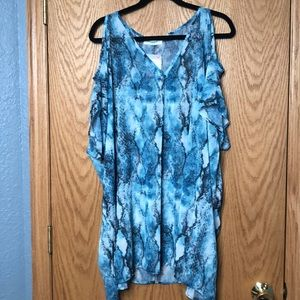 Snakeskin cold shoulder tunic NWT